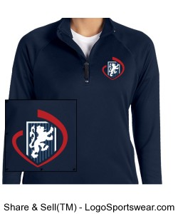 Ladies' Stretch Quarter-Zip Tech-Shell Design Zoom