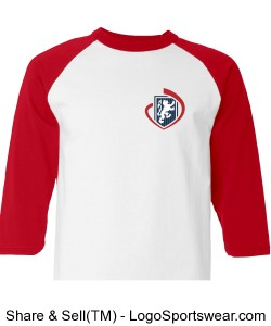 Youth Sizes: Champion 100% Cotton Raglan Sleeve Shirt Design Zoom
